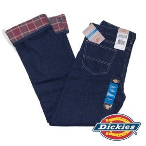 Dickies Relaxed Straight Leg Flannel Lined Jeans